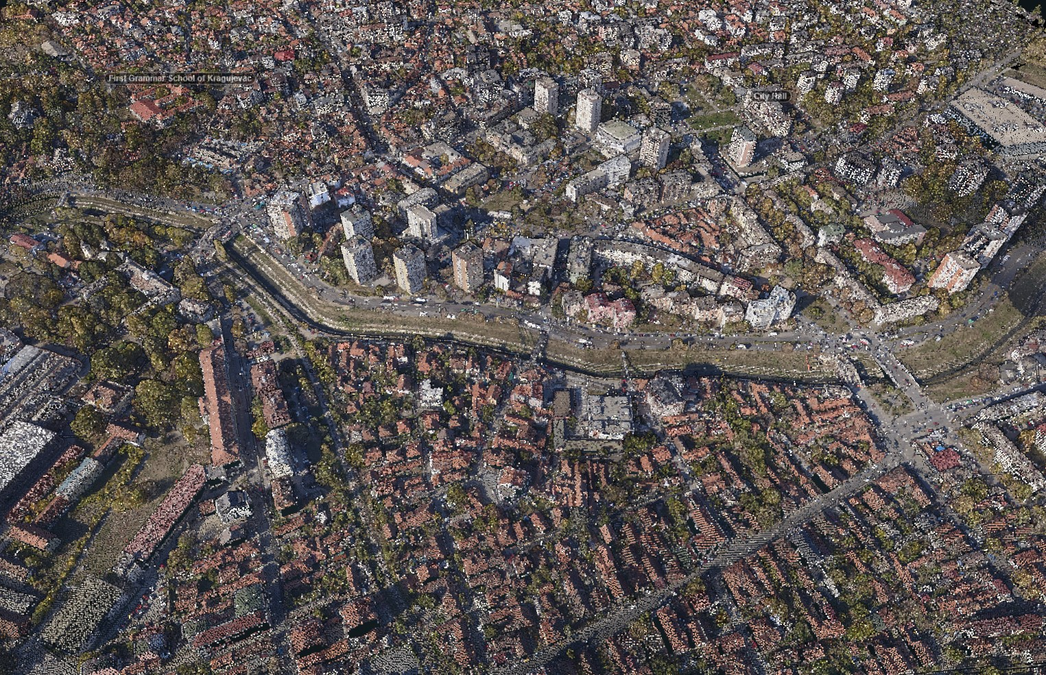 Kragujevac, point cloud sample